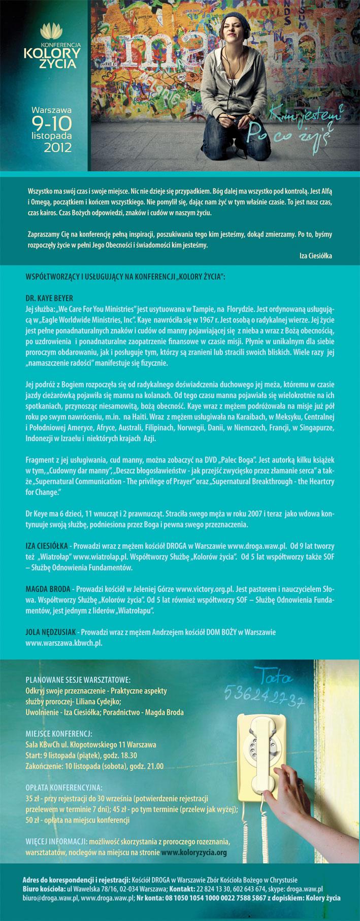 Rejestracja Kolory Życia 2012